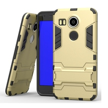 "For LG Nexus 5X Angler Case Combo Hybrid Armor Defender Case For Google Nexus 5 2015 H790 5.2"" Cover With Kick Stand Phone Cases"