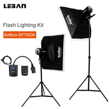 Godox 600Ws Strobe Studio Flash Light Kit 2 X 300W  Photography light & Softbox & Light Stand &Triggers &soft box