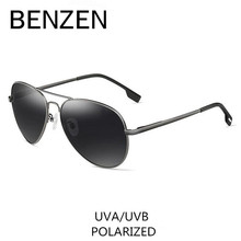 BENZEN Polarized Sunglasses Men Brand Designer Pilot Male Sun Glasses For Driving Vintage Eyewear Shades With Case 9091(China)