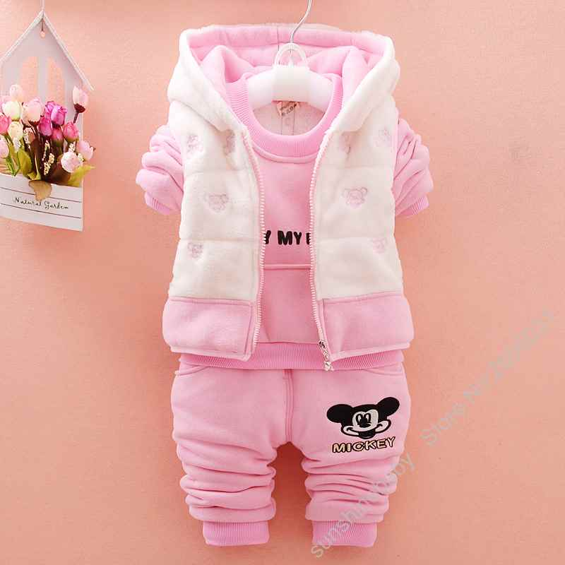 3 pcs/set High Quality Baby Super Warm Thicken Cotton Clothing Set Baby Girls Boys Clothes Hooded Vest &amp; Coat &amp;Pants Suit<br><br>Aliexpress