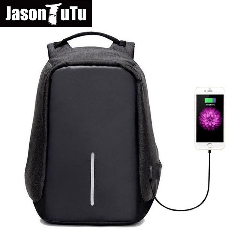 Backpacks Men USB Charge Laptop Backpack Minimalist Fashion Anti-theft Backpack Casual Mochila Waterproof Travel Bag FB1224<br>