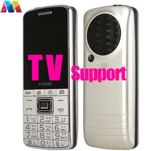TV Phone! 3D Sound!FM!Big Battery Original FORME TV Dual SIM Unlocked Cell Phone Mobile Phone better than other brand TV phone(China)