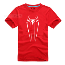 Spiderman Super Hero T-Shirt 7 Colors Men Cartoon Movie T Shirts Spider Man Tshirt Geek Tee(China)