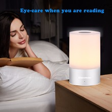 Excelvan MY-01 LED Touch Sensor Table Light Bedside Lamp Dimmable RGB Color Changing Aluminum Base Illumination Mood Night Light