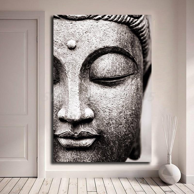Buddah Head Statue Giant Wall Art Poster Print