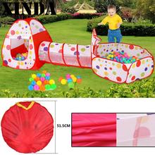 Kids Tent for children Pipeline Crawling Huge Game Yard Ball Pool Fashion Toy Tents Cartoon Fence 3 In 1 HA0011