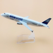 16cm Alloy Metal Chile Air Lan One World Airlines Plane Model Airbus 320 A320 Airplane Model with Stand  Decoration Gift