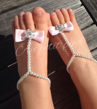 Baby pearl shoes DIY newborn shoes flowers diamond decorated feet baby ring boho children accessories rhinestone