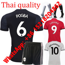 2017 kids ADULT 2018 THAI AAA QUALIT MANCHESTEER LONG SLEEVES ADULT 17 18 RED BLUE 3RD WHITE UNITEDS MEN JERSEY(China)