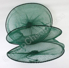 New Fish Crawdad Shrimp Minnow Fishing Bait Trap Cast Dip Net 2 Layer Foldable Crab Cage Free Shipping