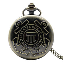 United States Coast Guard 1790 Design Pocket Watch Navy Pendant Watches Men Gigt for navy P980