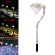 Outdoor LED Solar Powered Garden Path Stake Lanterns Lamps LED Diamonds Lawn Light Solar Light Pathway 2016 -- ALI88(China)