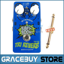 Baby Boom Effects Biyang RV-10 3 Mode Tri Reverb Reverb Stereo True Bypass Electric Guitar Pedal Musical Instrument