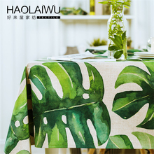 HAOLAIWU3D photo print Tropical Plants GreeTablecloth Table Cover Table Cloth Rectangle Provence Tafelkleed Tablecloths(China)