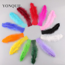 Free shipping 13 colors natural fluffy turkey feather 300 root sell DIY clothing cap shoes ornament accessories 15-20cm 6-8 inch(China)