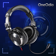 Oneodio Gaming Headset with Microphone For Xbox One Hifi Gaming Headset PS4 PC Studio DJ Headphone Monitor Hifi Headphone Stereo(China)