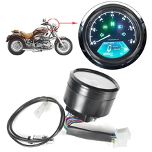 Hot Sale Motorcycle Tachometer Gauge Speed Mileage with LED Backlight Signal Light 12V Digital Motor Speedometer Display Speed