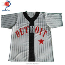 customized printed or embroidered blank baseball jerseys wholesale(China)