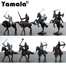 [Yamala] 28pcs/set Knights Warrior Horses Medieval Toy Soldiers Figures Playset Mini Model Toys Gift Decor For Children Adult(China)