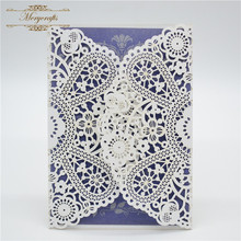 Beige vine style party supplies ideal products wedding invitation cards in pearls