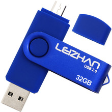 LEIZHAN pen drive 32 gb OTG USB flash drive memory usb16GB Metal Android Phone Pendrive 8GB USB Memory Stick 64g 2.0 U Disk 4gb