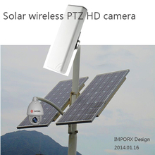 2015NEW 200W wireless   solar camera  wireless distance   7KM   Support SD   and   Autotracking  and  wiper
