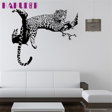 KAKUDER wall stickers for kids rooms decals home decor Leopard Wall Stickers Living Room adesivo de parede DROP SHIP RU/ES