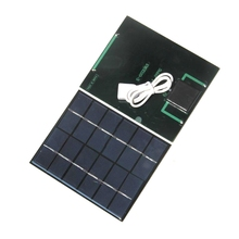 BUHESHUI 2W 6V DIY Solar Panel Charger For Power Bank Led Light 3.7V Polycrystalline Solar Cell  Education Study Kits 110*136MM