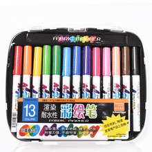 13pcs Permanent Marker Fabric Textile Durable Quick-drying Waterproof Non-tox Paint Marker Set for T-Shirt Clothes DIY Graffi