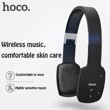 Hoco w4 smart touch bluetooth v4.0 headset headphones with microphone hifi touch panel noise cancelling black white blue