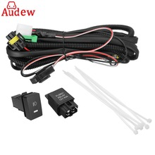 H11 Fog Light Wiring Harness Sockets Wire + LED Indicators Switch + Automotive Relay For Ford/Honda/Nissan/Acura(China)