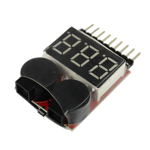 Free Shipping for 1-8S Lipo/Li-ion/Fe Battery Voltage 2IN1 Tester Low Voltage Buzzer Alarm Hot Selling(China)