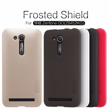 Original Nillkin Super Frosted Shield Hard Back PC Cover Case For Asus Zenfone Go(ZB452KG) Phone Case + Screen Protector