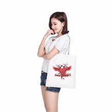 customized image women canvas bags woman shoulder bag box shopping bag canvas dress women bag tote(China)