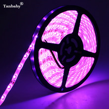 Tanbaby SMD 3528 Pink Color LED Strip Flexible Ribbon Tape Waterproof Rope Bar Light 5M/Roll DC12V 60LED/M Decoration Lighting