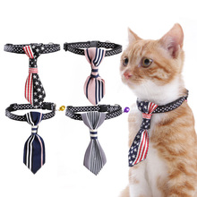 Pet Cat Dog Collar Tie Design With a Bell Adjustable Bow Tie Necktie Boss Nylon Comfort for Cat Dog Kitten Cool Handsome Cute(China)