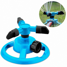 360Degree Automatic Rotary Nozzle Sprinkler Garden Watering Plastic Three-fork Sprinkler Irrigation Sprinkler Circular Chassis(China)