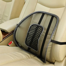 Black Mesh Breathable Cool Massage Car Seat Lumbar Support Waist Cushion For Business Office Chair(China)