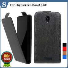 Factory price , Top quality new style flip PU leather case open up and down for Highscreen Boost 3 SE, gift