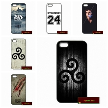 Phone Cases Cover For iPhone 4 4S 5 5S 5C SE 6 6S 7 Plus 4.7 5.5 Teleplay Teen Wolf Case Cover #HE1710(China)