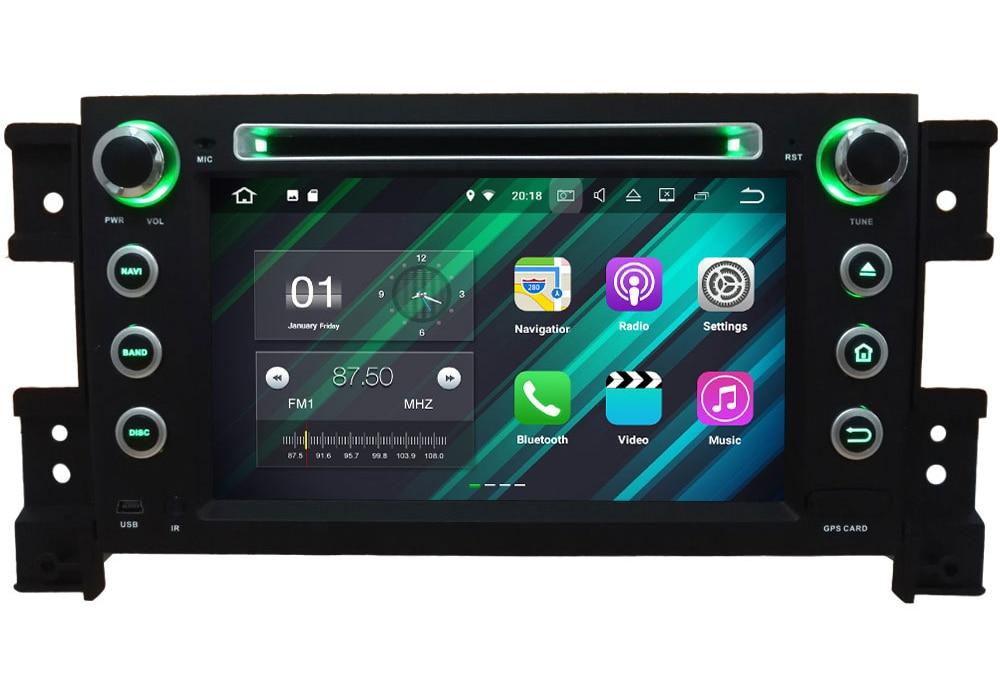 "7"" Android 7.1.2 Quad Core 2GB RAM 4G Wifi SWC DAB+ Car Multimedia DVD Player Radio Stereo For Suzuki Grand Vitara 2005-2015"