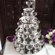 New Wedding champagne tower five layer with cup