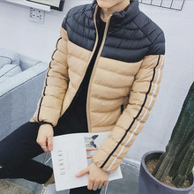 Winter coat 2016 winter fashion color combo warm fashion colors thickening casual jacket(China)
