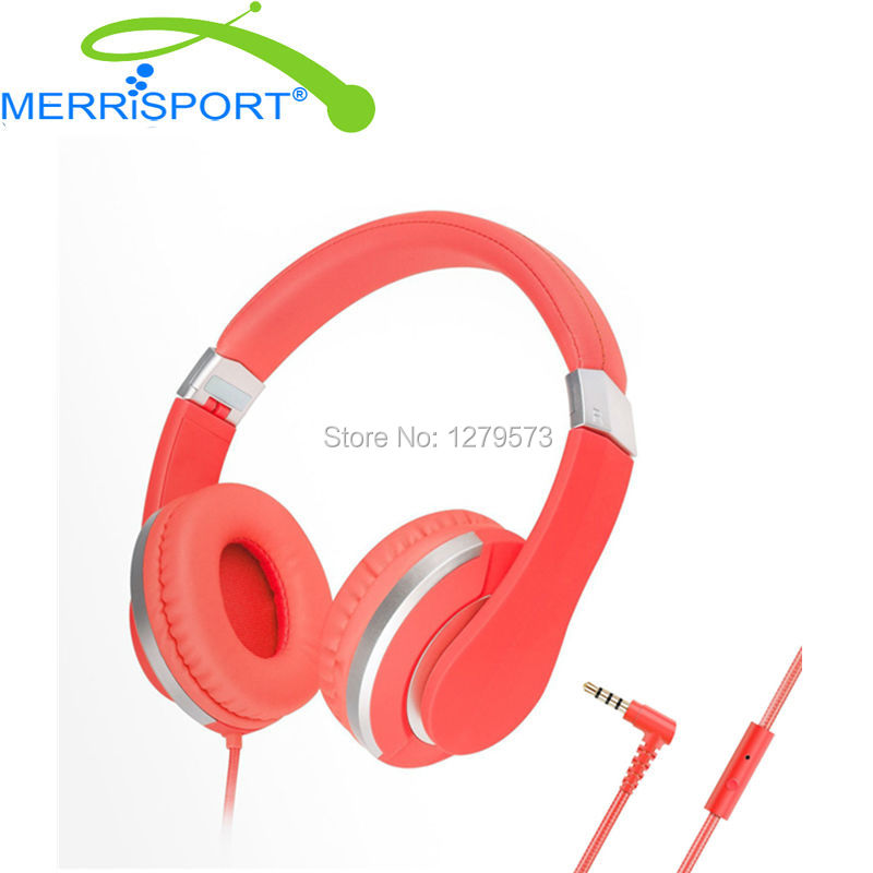 MERRISPORT Headphones Over Ear Stereo Headsets for Adults Kids Children Boys Girls for iPhone Samsung Smartphones Computer Red<br>