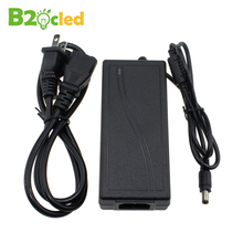 LED DRIVER 12V POWER SUPPLY PC 85V-265V AC BC 12V5A EU US PLUG CHANGER TRANSFORMER ADAPTER FOR LED STRIP LIGHTS FREE SHIPPING