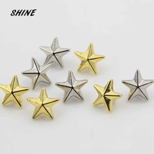 Plastic Sewing Button Scrapbooking Star Gold\ Silver Single Hole 11.5mm Dia. 12 PCs Costura Botones bottoni botoes