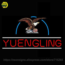Neon Signs For Yuengling Eagle Real Glass Tube Neon Signs Handcrafted Advertising Neon Lamp Art Light Indoor Motel Sign 24x15(China)