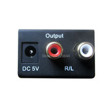 Free Shipping Digital Optical Coax to Analog RCA Audio Converter Adapter Converting RCA L/R Audio to Optical S/PDIF Toslink