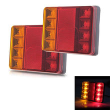 Car Rear Tail Led Turn Indicator Lamp Stop Brake Light Siginal 12V 8 LED Waterproof For Caravan Truck Camper Trailer Van(China)