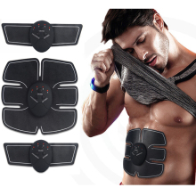 EMS Wireless Muscle Stimulator Smart Fitness Abdominal Training Device Electric Weight Loss Stickers Body Slimming Belt Unisex(China)